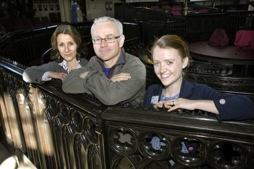 Sabbat Actress Christine Mackie, writer Richard Shannon and director Amy Leach